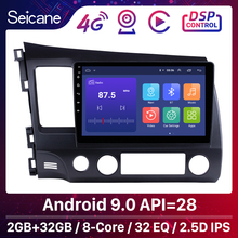 Seicane 10.1 Inch 2Din Android 9.0 Radio 8 HD 1024*600 Tochscreen GPS Đa Phương Tiện Cho 2006 2007 2011 xe Honda Civic