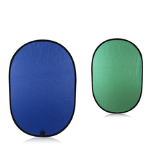 Reflector photography 100x150cm collapsible cotton blue & green (2in1) backdrop background panel for photo & video studio 5x7ft dark blue backdrop dark blue ocean world photography background and photography studio backdrop props