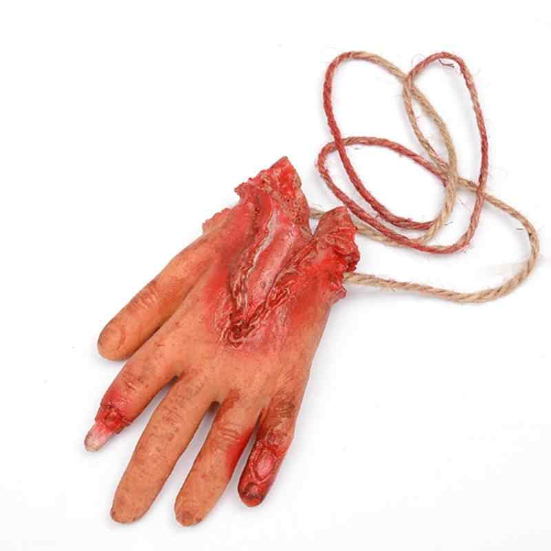 Life Size Fake Bloody Severed Broken Body Parts Scary Halloween Horror Props Party Decoration