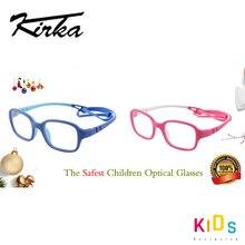 Óculos infantil tr90, óculos flexível e seguro, unissex, para crianças