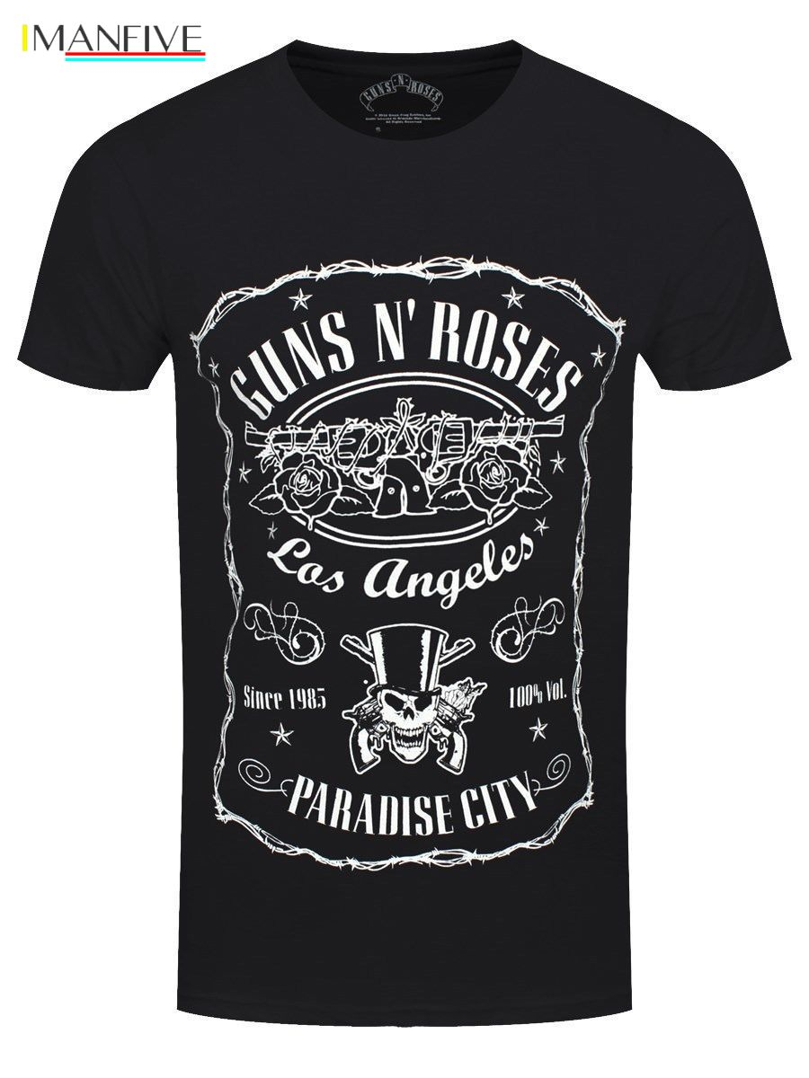 Guns N Roses Paradise City Men 39 s Black T shirt 100 Cotton Short Sleeve O Neck Tops Tee Shirts Men 39 S T Shirt 2019 Newest s 3xl in T Shirts from Men 39 s Clothing