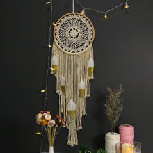 Dream Catcher macrame Feather Ornaments Braided rope Ribbons Feathers Wrapped Decor Dreamcatcher home decor