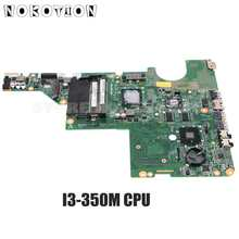 Nokotion 634649-001 DAAX1JMB8C0 Voor Hp Compaq CQ42 G42 CQ62 G62 Laptop Moederbord I3-350M Cpu HD6370M 512Mb Gpu