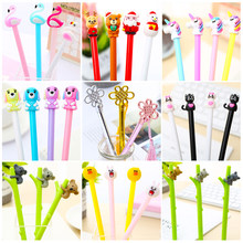 Creative Kawaii Kat Gel Pen Roller Ball Leuke Cool Flamingo Eenhoorn Fun Koala Kids Hobby Kerst Cadeau Kawai Stationaire kit(China)