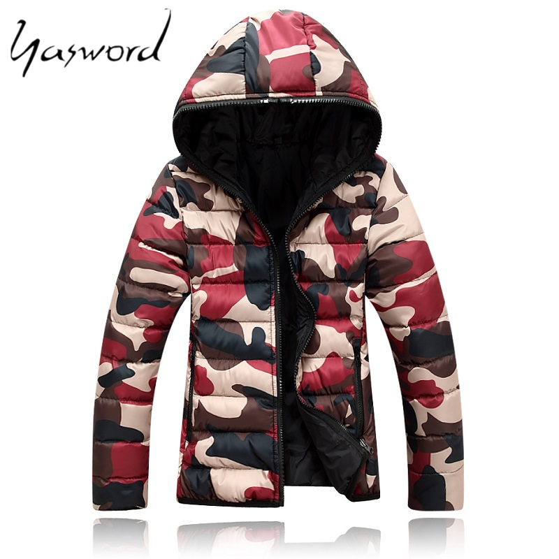 Yasword Men Thick Coat Parka Heavy Jackets Hooded Outwear Cotton Padded Man Clothes