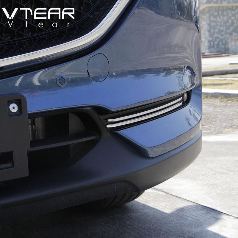 Vtear для Mazda CX-5 CX5 мазда сх5 2018 2019 2020 , аксессуары для автомобиля, передний противотуманный светильник, отделка полосок, декоративная крышка, внешний АБС-хром, Стайлинг, автотовары,противотуманные фары