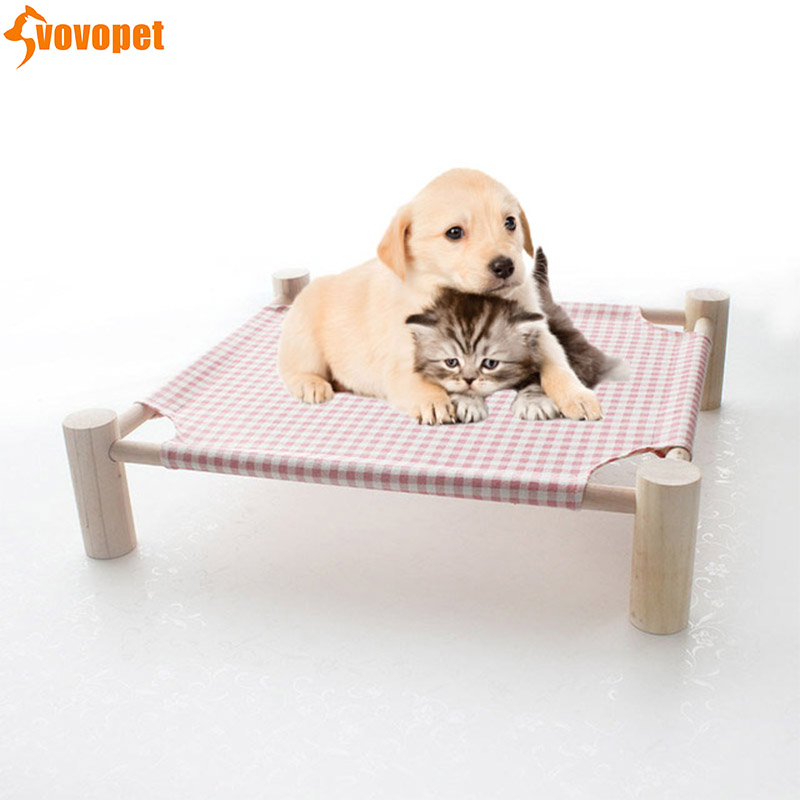 pet <font><b>dog</b></font> bed <font><b>house</b></font> soft Detachable washable puppy Kennel <font><b>Dog</b></font> bed mats for small medium lagre <font><b>dog</b></font> <font><b>outdoor</b></font> camp bed with <font><b>wood</b></font> shelf image