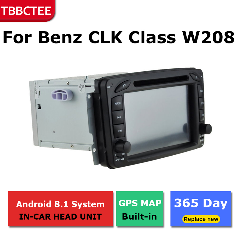 Android Car GPS Navigation For Mercedes Benz CLK Class W208 1996 2003 Car dvd player BT RDS Mlutimedia player Navi 2Din WiFi in Car Multimedia Player from Automobiles Motorcycles
