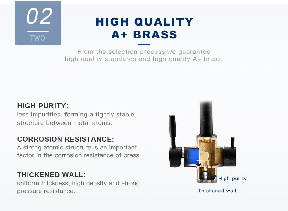 Ha4755a894f774639a94ed1d5952c19aaR Frap New Black Kitchen sink Faucet mixer Seven Letter Design 360 Degree Rotation Water Purification tap Dual Handle F4352 series