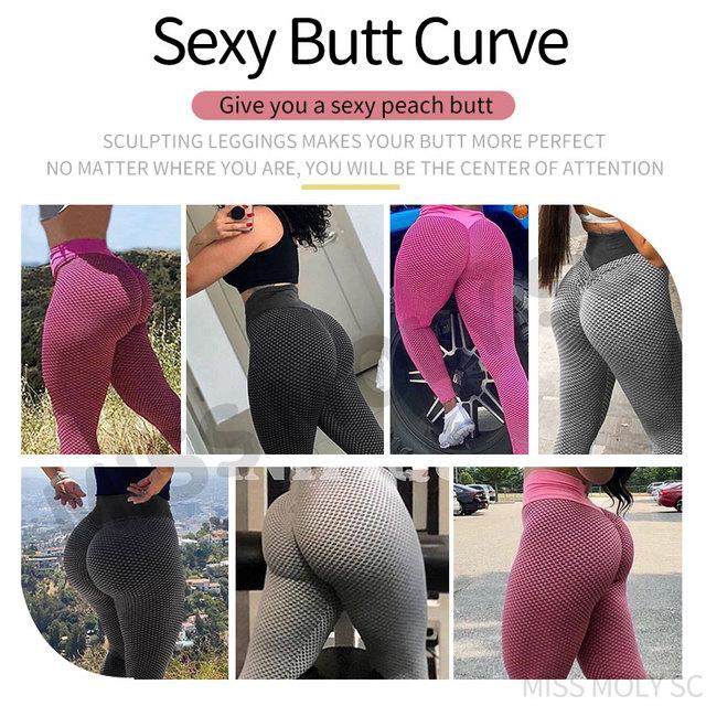 Women High Waist Leggings No See Through Thick Fitness Legging Butt Lift Seamless Legins Workout Gym Scrunch Booty Push Up Pants 6