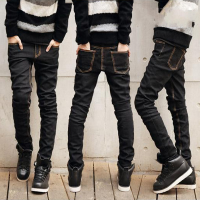 Jeans Men 2017 Summer Students New Style Teenager Korean-style Slim Fit MEN'S Trousers Fashion Elasticity Skinny Pants