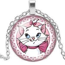 HOT! New Charm Girl Necklace Handmade Necklace Cartoon Anime White Cat Glass Pendant Necklace Gift Jewelry 2019 explosion models unicorn glass necklace handmade anime cute tianma pendant long necklace birthday gift
