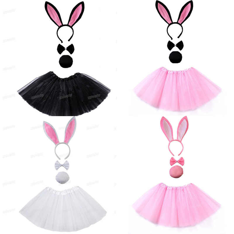 Girls Cat Ear Rabbit Bow Headband Hairband Costume Fancy Dress Hen Night Party J