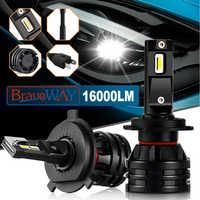 BraveWay Car Lights LED H7 16000LM H11 LED Lamp for Car Headlight Bulbs H4 H1 H8 H9 9005 9006 HB3 HB4 Turbo H7 LED Bulbs 12V 24V