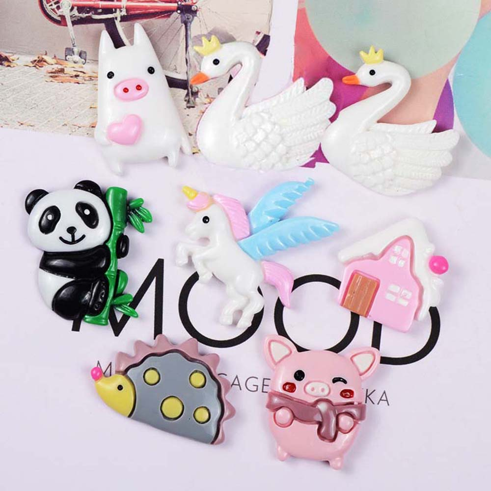 Chocolate Panda Such As Mermaid 10pcs Resin Flatback Embellishments for Craft Making for Slime Come in Different Cute Shapes