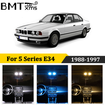 BMTxms 18Pcs Canbus LED Interior Light For BMW 5 Series E34 M5 518i 520i 525i 530i 540i Saloon Touring License Plate Lamp image