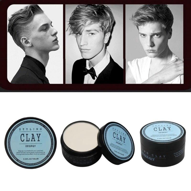 Мода с матовой отделкой укладки волос глина ежедневного использования мужские волосы глина Высокая Сильная удерживайте низкий блеск воск ...