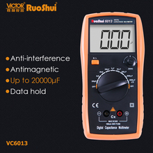 RuoShui VC6243 VC6013 20H 2000uF Digital Capacitance LCR Meter 2000 Counts Data Hold Capacitor Tester Electronic Capacimetro