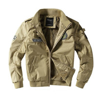 Men Bomber Jackets Winter Jackets and Coats Thicker Warm Parkas Good Quality Men Army Green Air Force Jackets Winter Coats