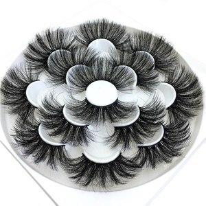 7 Pairs 25mm 8D Thick Long Mink False Eyelashes Wispies Fluffy Dramatic Eye Lashes Handmade Multilayered Eyelash Makeup Tools(China)