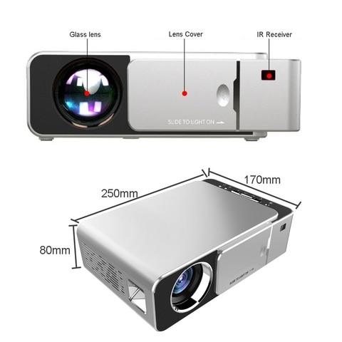 t6 led hd projetor 3500 lumens portatil