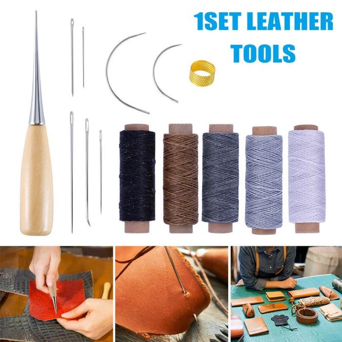 1set Leather Canvas Sewing Stitching Needles Leathercraft Handmade Repair EW