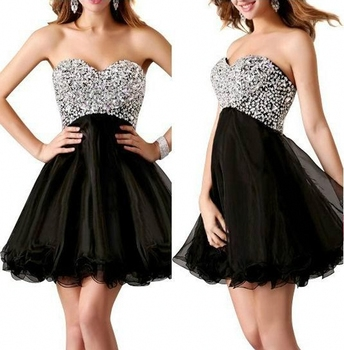 Cheap Homecoming Dresses Shinning Beading Sweetheart A Line Short Organza Cocktail Party Gowns New Hot Sale cocktail dresses фото