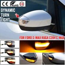 Accesorios de coche llevó señal ala lateral espejo indicador lámpara de luz para Ford S Max 2007 2014 Kuga C394 08 2012 C MAX
