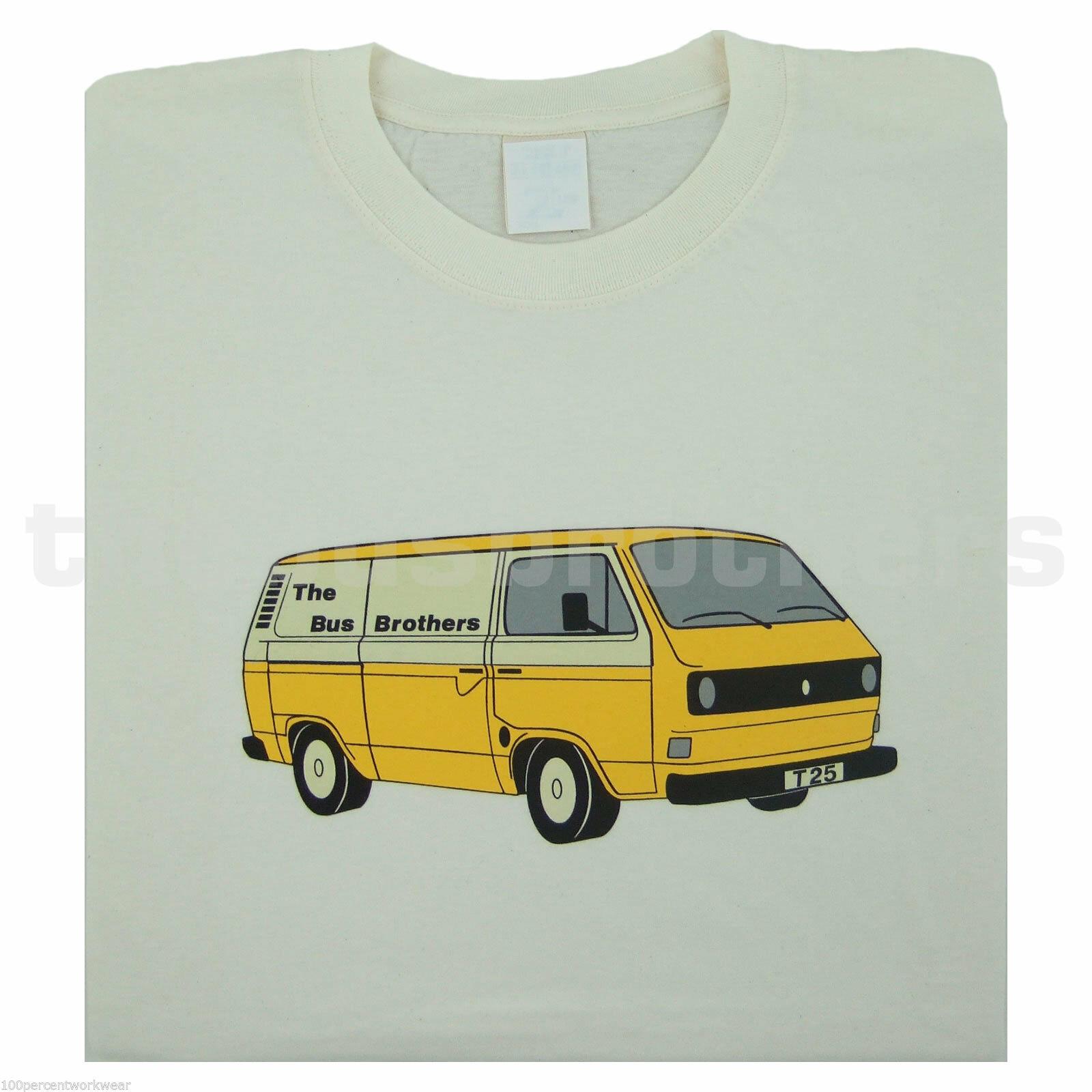 Bus Brothers T25 T3 Panel Van Kastenwagen Transporter Mens T Shirt