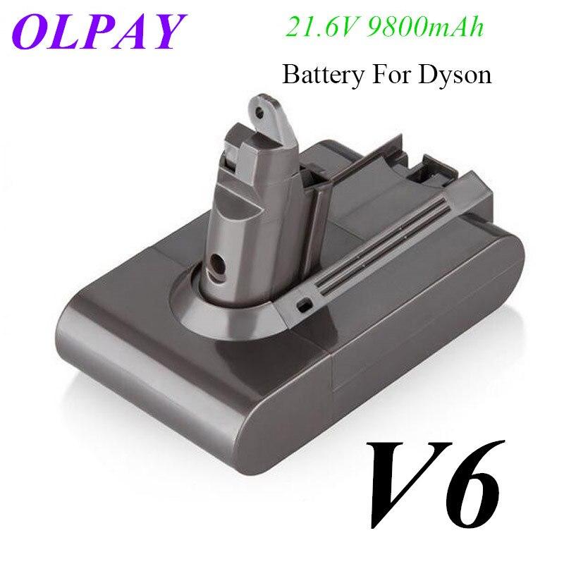 New 9800mAh 21.6V 9.8Ah Li-ion Battery For Dyson V6 DC58 DC59 DC61 DC62 DC74 SV09 SV07 SV03 965874-02 Vacuum Cleaner Battery