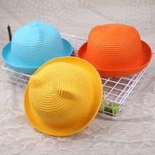 Милая детская соломенная шляпа с бантом детские шляпы от солнца