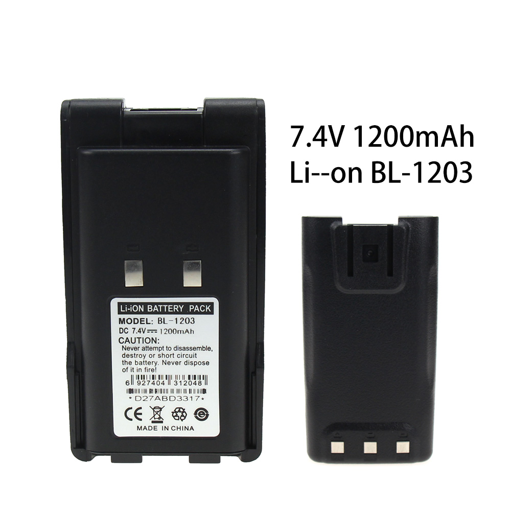 High Quality BL1203 Li-Ion Battery 1300mAh 7.4V Battery Extended For HYT TC600 TC-600