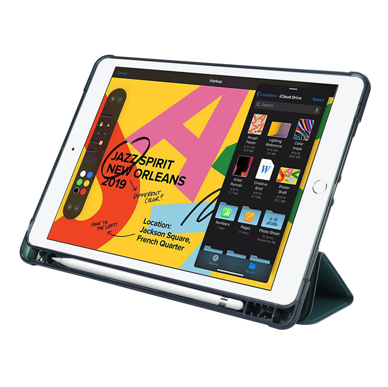 For Case Case Stand Generation iPad Smart Flip 7th Holder Pencil Cover with Protective