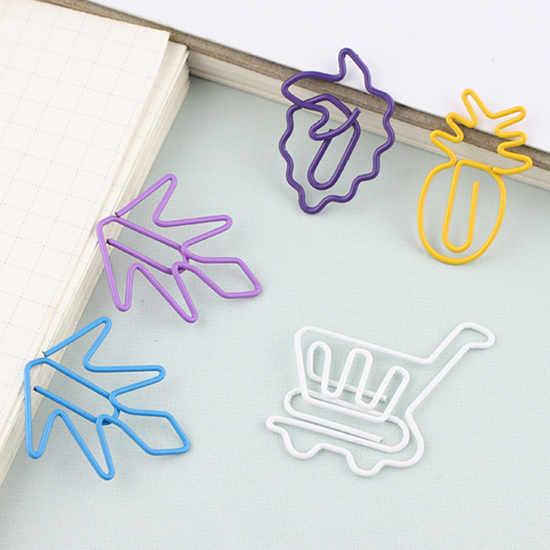 Multiple Fruit Paper Clips Cartoon Creative Shape Kawaii Shape Clip Large Size Super Cute Paper Clips Klips Paperclip Metal Clip