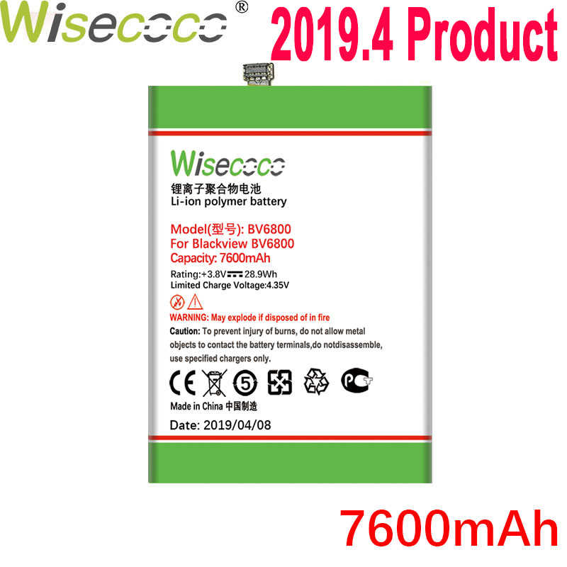 Wisecoco Pin Cho Camera Hành Trình Blackview BV6000 BV6800 BV7000 BV8000 BV9000 Điện Thoại Mới Nhất Sản Xuất Pin Chất Lượng Cao + Số Theo Dõi