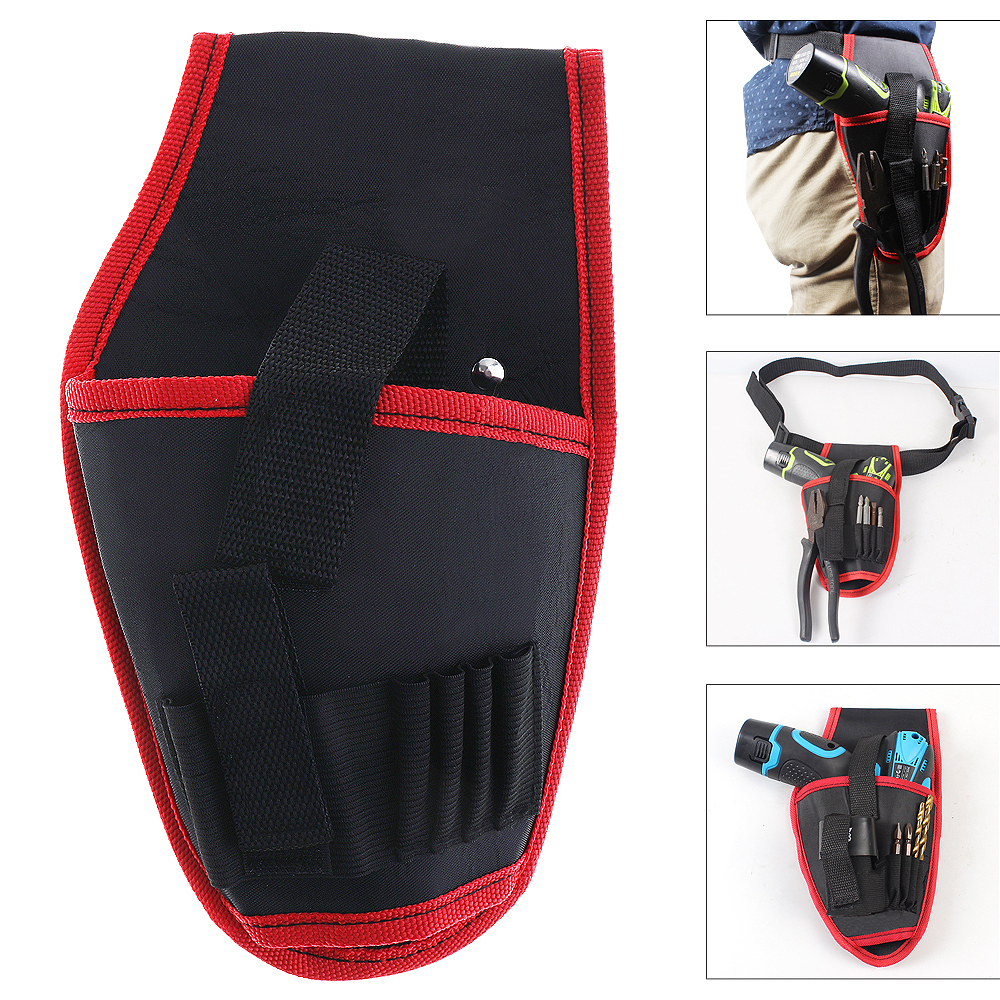 Portable Electrical Drill Pockets Tools Bag With Belt And Tool Storage For Home Decoration /Site Operations