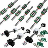 6 set HGR20 linear guide rail ballscrew kit SFU1605/SFU1610 400/700/1000+ HGH20CA / HGW20CC+BK/BK12+Nut housing+Coupler cnc part