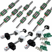 6 set HGR20 linear guide rail ballscrew kit SFU1605/SFU1610 400/700/1000+ HGH20CA / HGW20CC+BK/BK12+Nut housing+Coupler cnc part