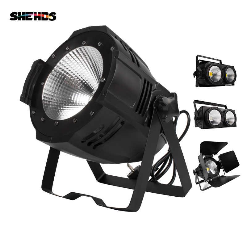 Фото Светодиодный Par 100 Вт/200 Вт COB лампа с дверцами сарая Dmx контроллер сценического