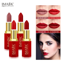 IMAGIC Matte Lipsticks naked Crystal Column Lipstick Dont dye the cup Lip Sticks Cosmetic Easy to Wear