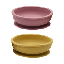 Baby Silicone Suction Cup Bowl Non-Slip Learning Feeding Dinnerware Sucker Dish