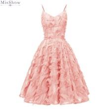 Коктейльные платья элегантное розовое короткое вечернее платье сексуальное платье без рукавов с v-образным вырезом