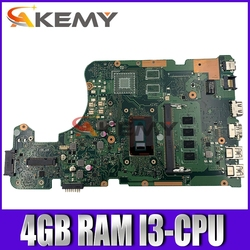 Akemy X555LD Laptop płyta główna For Asus X555LA X555LD X555LF X555LJ X555L X555 Test oryginalne płyty głównej płyta główna 4GB-RAM I3-CPU