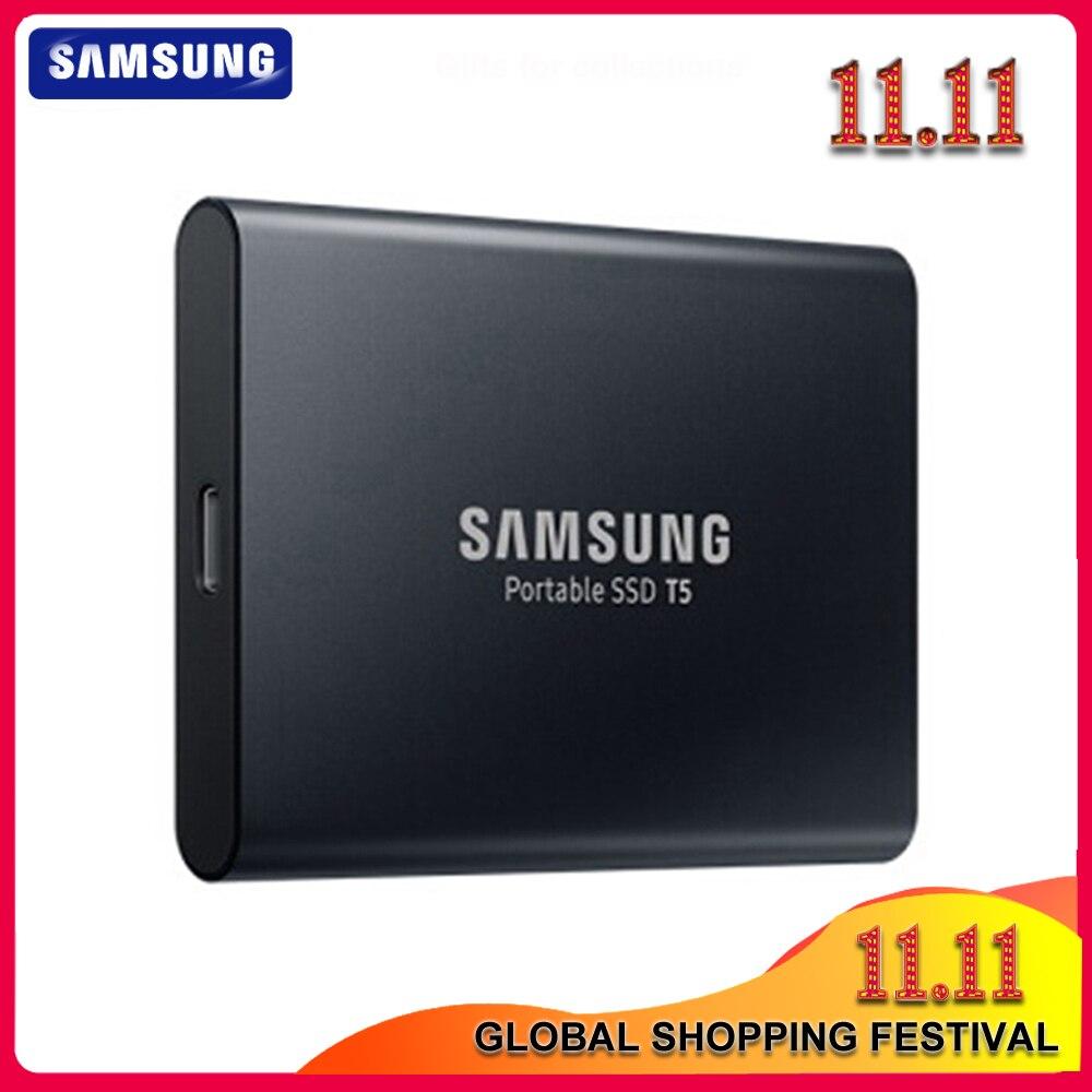 100% Samsung T5 portable SSD 250GB 500GB 1TB 2TB USB3.1 External Solid State Drives USB 3.1 Gen2 and backward compatible for PC|External Solid State Drives| - AliExpress