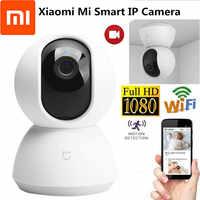 Xiaomi Mijia videocámara inteligente 1080P WiFi Pan Tilt cámara de seguridad noche Webcam 360 ángulo inalámbrico silencioso Motor IP Cámara Wifi Cámara