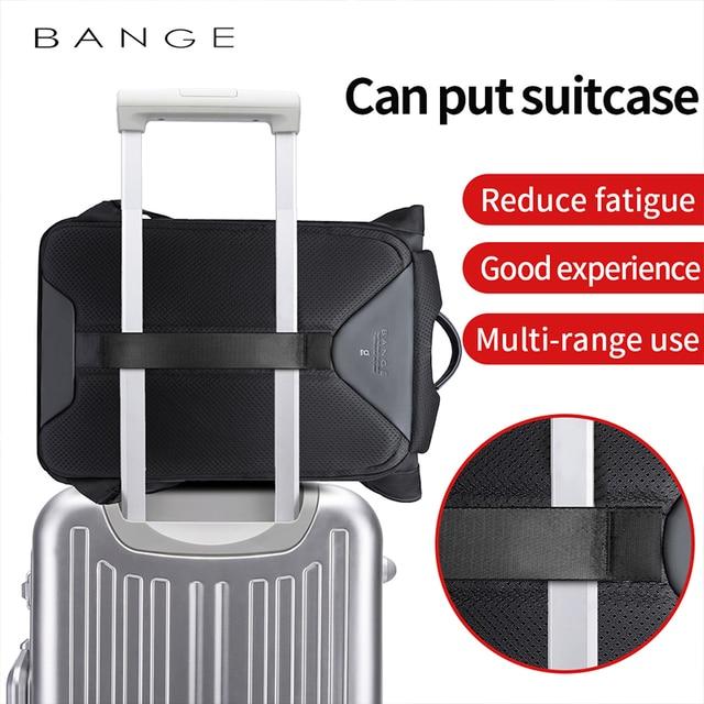 Bange Men Fashion Backpack Multifunctional Waterproof Backpack Daily Travel Bag Casual School Rucksack 3