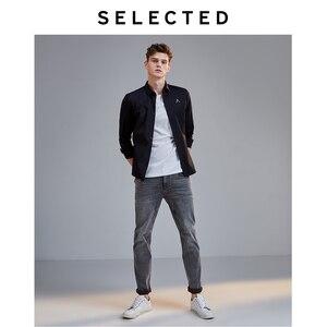 Image 4 - Selecionado masculino fino ajuste estiramento algodão cinza jeans lab