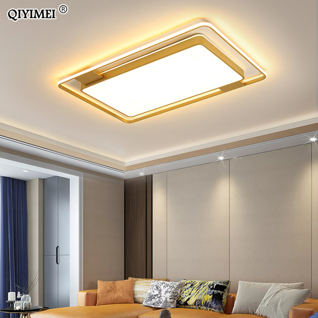 Dimmable Chandeliers Lights Living Bedroom Dining  Kitchen Study Room  black  gold color Surface Mounted lamp fixtures