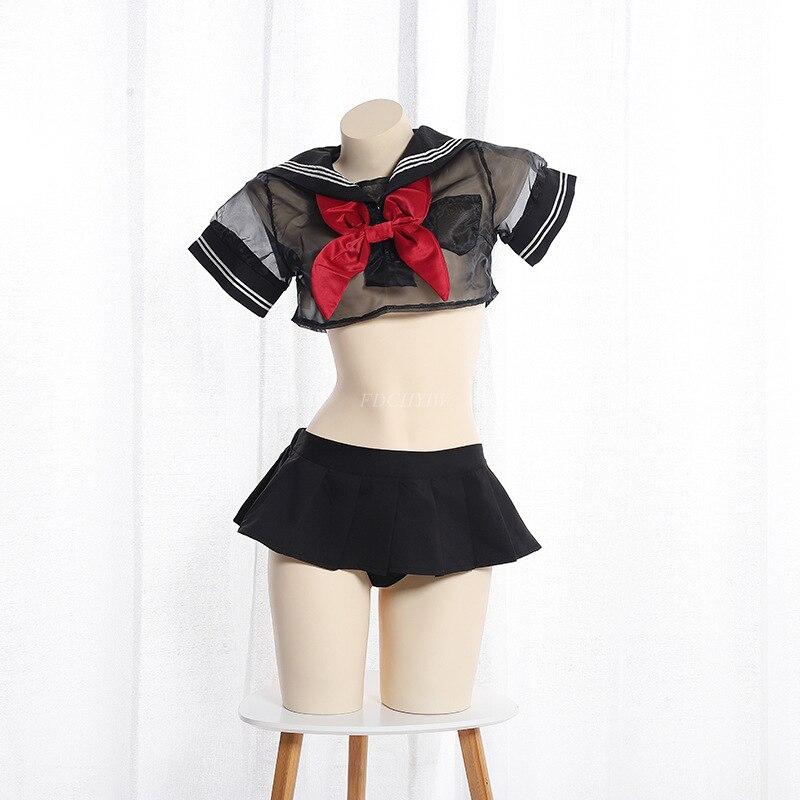 Купить японский милый сетчатый костюм лолиты с бантом студенческий