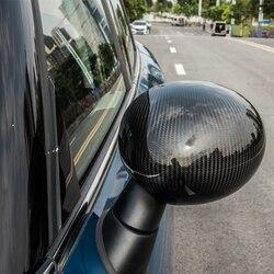 Dekoracja lustra wstecznego z włókna węglowego akcesoria do modyfikacji powłoki dla BMW MINI Cooper F54 F55 F56 F57 F60 clubman